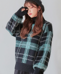 제로스트리트() CHECK WOOL KNIT / MINT