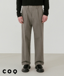 씨오큐() Wide napping cotton pants_khaki