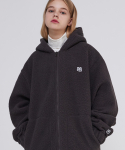 매치글로브(MATCHGLOBE) MG9F FLEECE HOOD ZIPUP (CHARCOAL)