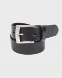 에이징씨씨씨() 428 RIGHT ANGLR SLIM BELT BLACK - MATT NICKEL