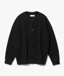 제로(XERO) Concise Round Neck Cardigan [Black]
