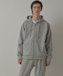아트 이프 액츠() Heavy Hooded Sweat Shirt(zipup)_ Melange Grey