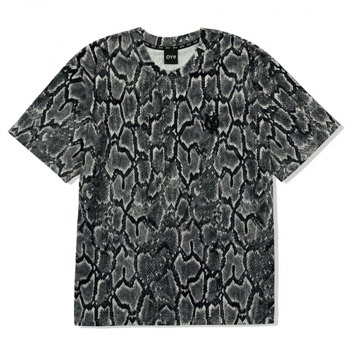 VELOUR SNAKE LOGO T-SHIRTS -BLACK