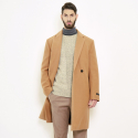스트라이크() Classic Suitable Loose Fit Handmade Coat (Camel)