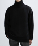 베리베인() KNIT POLO NECK (BLACK)