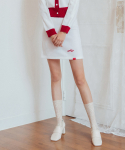 하트클럽(HEART CLUB) Heart Line Knit Skirt_Ivory