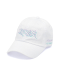 스티그마() DOTTED LINE WASHED BASEBALL CAP WHITE