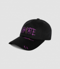바이브레이트(VIBRATE) SCRATCH EMBROIDERY BALL CAP (BLACK)