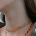 포스트루드(POSTLUDE) LACE CHOCKER (2 COLORS)