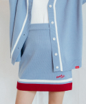 하트클럽(HEART CLUB) Heart Coloration Knit Skirt_Sky Blue