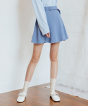 하트클럽(HEART CLUB) Heart Flare Belt Skirt_Sky Blue