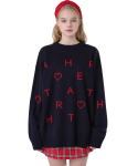 하트클럽(HEART CLUB) Heart Pattern Knit_Navy