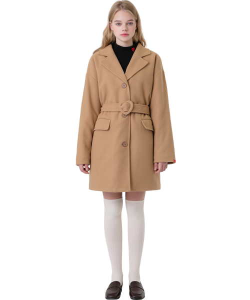 하트클럽(HEART CLUB) Heart Point Belt Coat_Beige