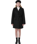 하트클럽(HEART CLUB) Heart Point Belt Coat_Black