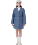 하트클럽(HEART CLUB) Heart Point Belt Coat_Indi Blue