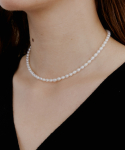 러브미몬스터() Slim Natural Pearl Choker