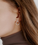 러브미몬스터() [Silver] Double Ring Earring