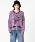 하이드(HIDE) [남녀공용] Future V-neck Knit_Light Purple