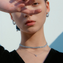 포스트루드(POSTLUDE) 3 LINESTONE CHOCKER (2 COLORS)