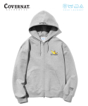 커버낫() COVERNAT x M/G HOODIE ZIP UP GRAY