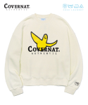 커버낫() COVERNAT x M/G LAUNDRY AUTHENTIC LOGO CREWNECK IVORY