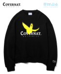 커버낫() COVERNAT x M/G LAUNDRY AUTHENTIC LOGO CREWNECK BLACK