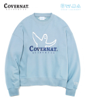 커버낫() COVERNAT x M/G LAUNDRY AUTHENTIC LOGO CREWNECK LIGHT BLUE