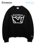 커버낫() COVERNAT x M/G LAUNDRY LOGO CREWNECK BLACK
