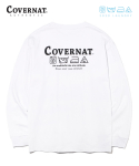 커버낫() COVERNAT x M/G LAUNDRY LAYOUT LOGO LONG SLEEVE WHITE