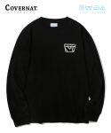 커버낫(COVERNAT) COVERNAT x M/G LAUNDRY LAYOUT LOGO LONG SLEEVE BLACK
