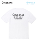 커버낫(COVERNAT) COVERNAT x M/G LAUNDRY LAYOUT LOGO TEE WHITE