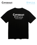 커버낫() COVERNAT x M/G LAUNDRY LAYOUT LOGO TEE BLACK