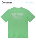 커버낫() COVERNAT x M/G LAUNDRY LAYOUT LOGO TEE GREEN