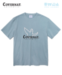 커버낫() COVERNAT x M/G LAUNDRY AUTHENTIC LOGO TEE BLUE