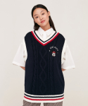 5252 바이 오아이오아이(5252BYOIOI) SCHOOL KNIT VEST_navy