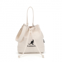 캉골(KANGOL) Amber Canvas Bucket Bag 3776 IVORY