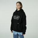 로너() [L]Curve rectangle logo hoodie-black