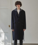 프리마우터(PRIMAUTER) 12AM Single Wool Coat (Navy)
