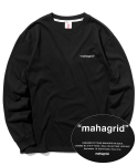 마하그리드(MAHAGRID) POINT LOGO LS TEE BLACK(MG2ASMT551A)