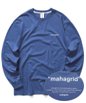 마하그리드(MAHAGRID) POINT LOGO LS TEE NAVY(MG2ASMT551A)