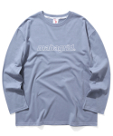 마하그리드(MAHAGRID) OUTLINE LOGO LS TEE BLUE(MG2ASMT550A)