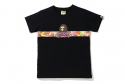 베이프(BAPE) ABC CAMO FLOWER TAPE APE HEAD TEE L