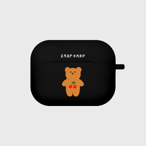 어프어프(EARPEARP) Cherry big bear-black(Air pods pro)