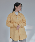 UNISEX 3.1.1 WIDE COLLAR SHIRT - MUSTARD