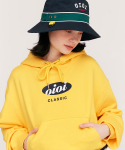 5252 바이 오아이오아이(5252BYOIOI) CIRCLE LOGO CROP HOODIE_yellow