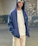 이베스가(YVESGA) Signature Zip Up Hoodie_Deep Blue