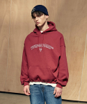 이베스가(YVESGA) Outline Over Hoodie_Burgundy