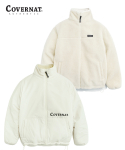 커버낫(COVERNAT) REVERSIBLE FLEECE ZIP-UP JACKET OFFWHITE