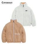 커버낫(COVERNAT) REVERSIBLE FLEECE ZIP-UP JACKET CANTALOUPE