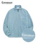커버낫(COVERNAT) FLEECE ZIP-UP JACKET DUST BLUE